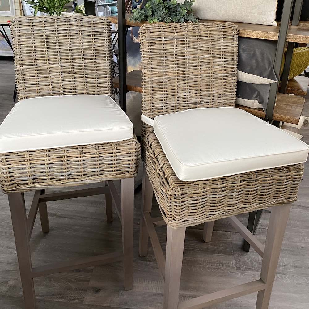 Natural Wicker Bar Stool in-store