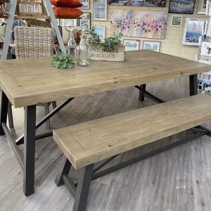 Pendlebury 2m Dining Table and Bench