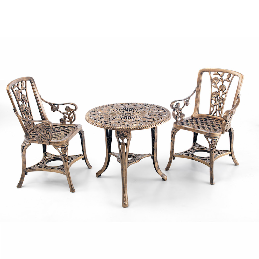 Rose Gold Garden Bistro Set