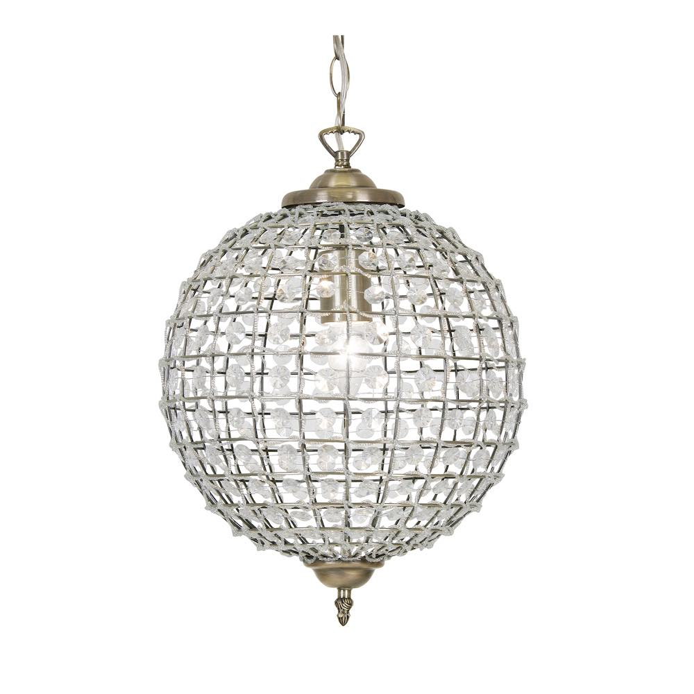 Small Dome Crystal Chandelier