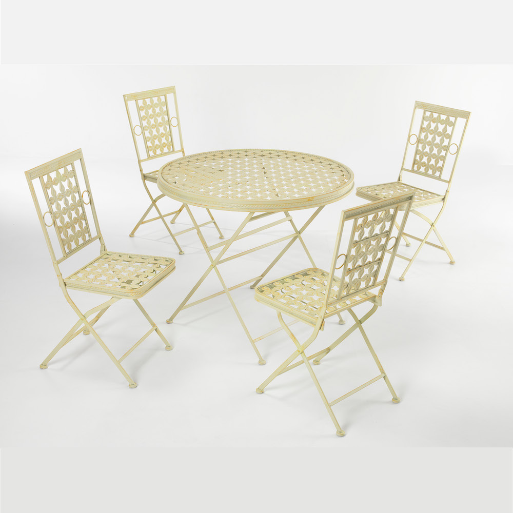 Westminster Cream Garden Bistro Set