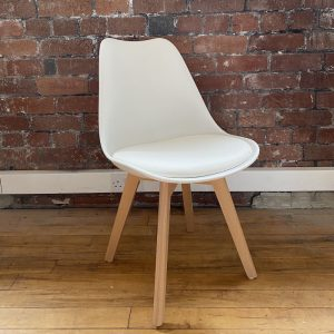 White Louvre Beech Breakfast Chair