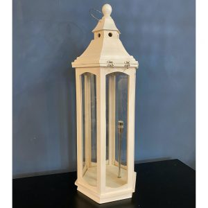 White Washed Wood Floor LanternWhite Washed Wood Floor Lantern