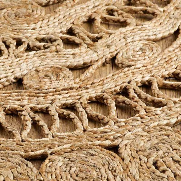 Zarla Natural Jute Round Rug close-up