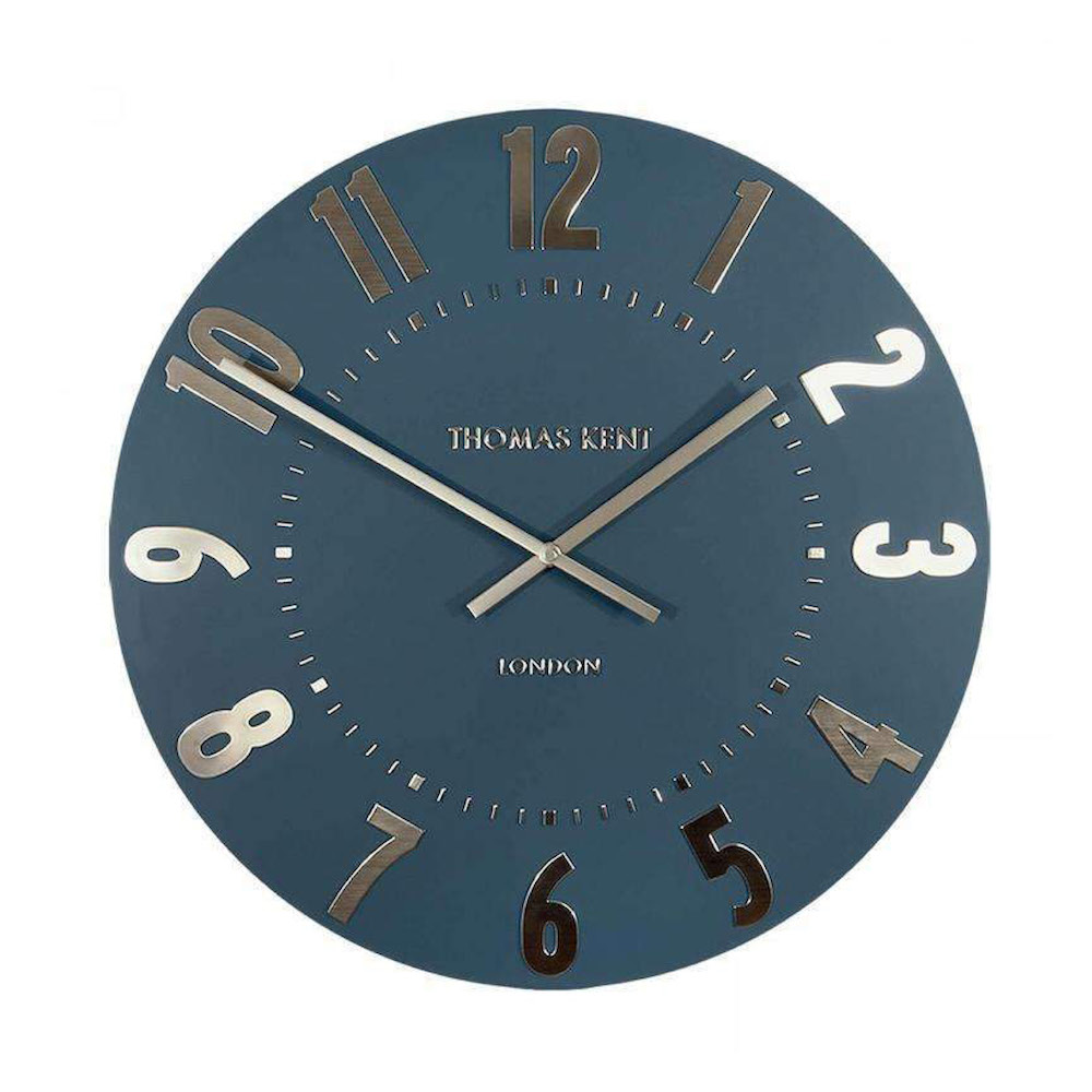 Thomas Kent Large Mulberry Wall Clock Midnight Blue