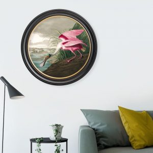 lifestyle image of wall print with a roseate